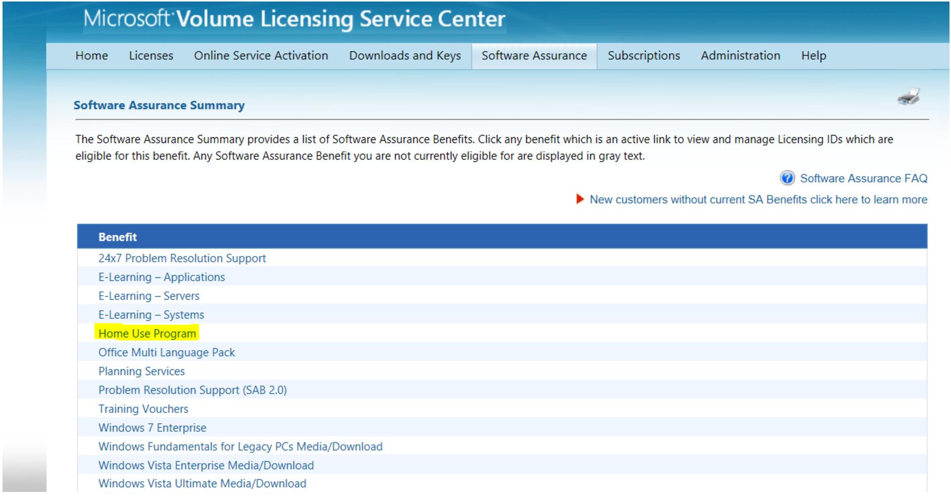 Microsoft sa support page get microsoft updates windows 7